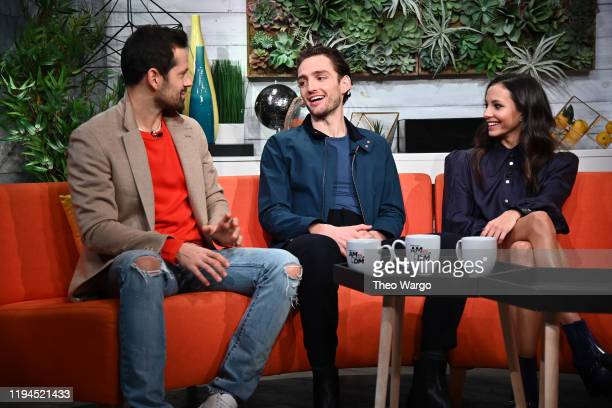 Robbie Fairchild Laurie Davidson and Francesca Hayward visit BuzzFeed's AM To DM on December 17 2019 in New York City