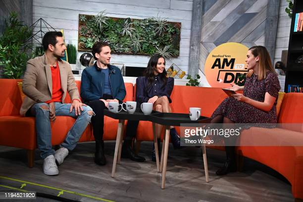 Robbie Fairchild Laurie Davidson Francesca Hayward and Stephanie McNeal during BuzzFeed's AM To DM on December 17 2019 in New York City