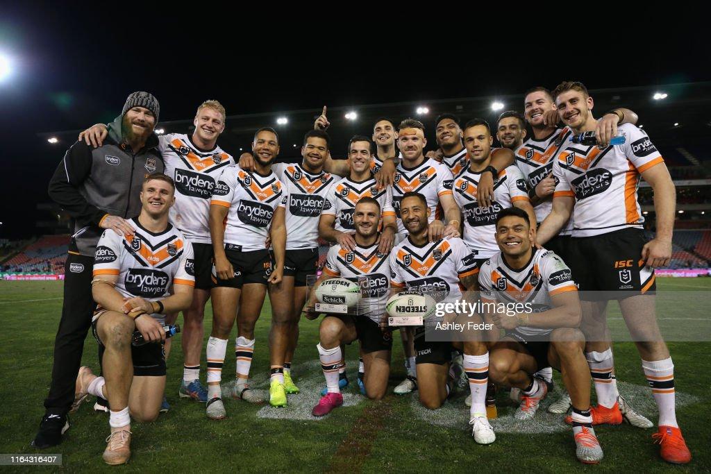 NRL Rd 19 - Knights v Tigers : News Photo