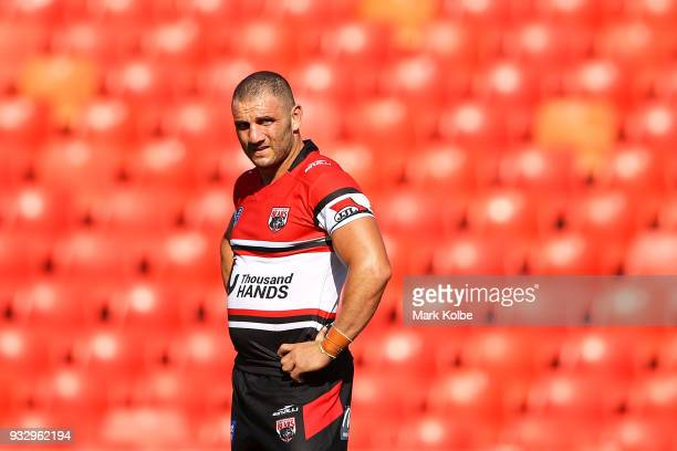 Robbie Farah of the Bear watches on during the Intrust Super Premiership NSW round two match between the Penrith Panthers and the North Sydney Bears...