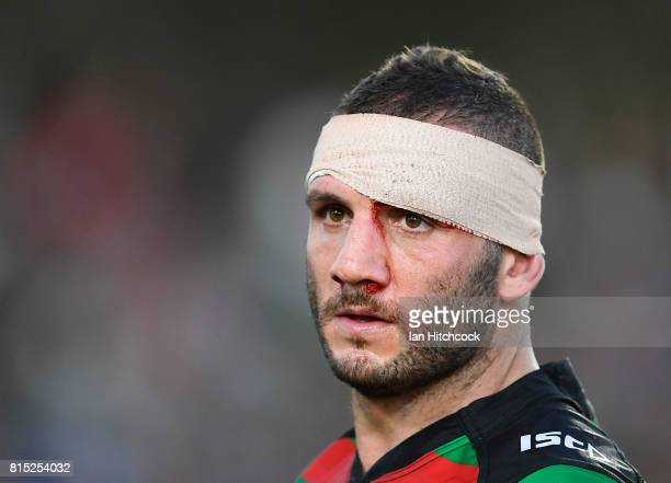 Robbie Farah of the Rabbitohs looks on after losing the round 19 NRL match between the South Sydney Rabbitohs and the North Queensland Cowboys at...