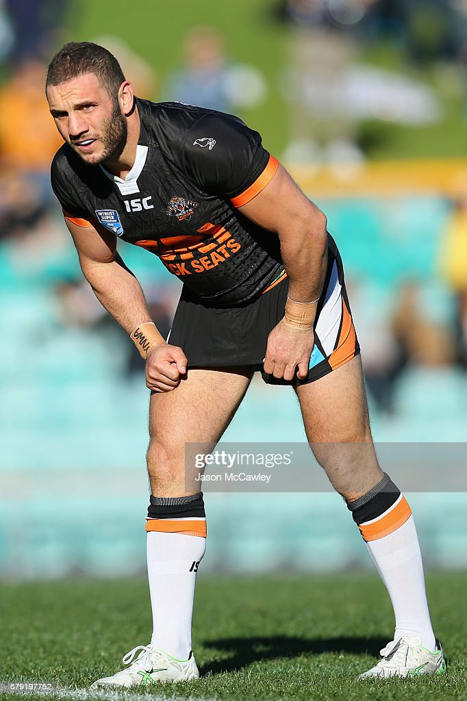Robbie Farah of the Wests Tigers watches on during the round 19 Intrust Super Premiership NSW match between the Wests Tigers and the Newtown Jets at Leichhardt Oval on July 23, 2016 in Sydney, Australia.