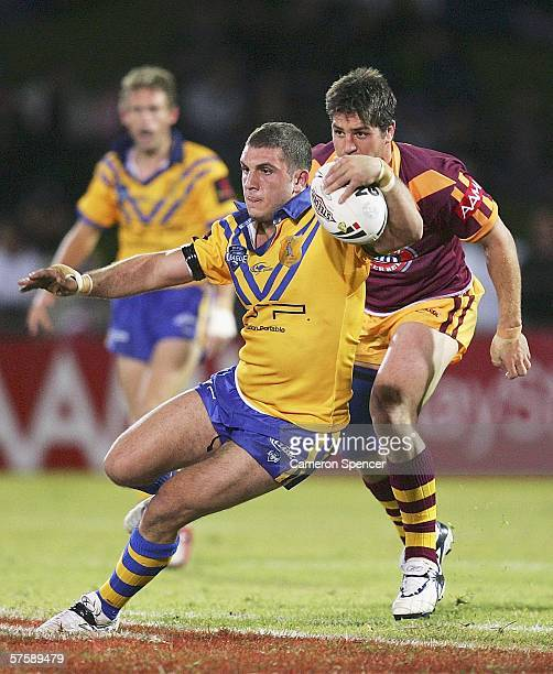 Robbie Farrah of City runs the ball during the NRL City v Country Origin match at Apex Oval May 12 2006 in Dubbo Australia