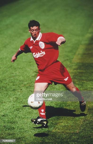 Robbie Fowler of England and Liverpool Football Club poses for a portrait at the Anfield football stadium on 1 August 1996 in Liverpool Merseyside...