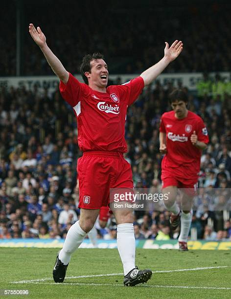 Robbie Fowler of Liverpool celebrates his goal during the Barclays Premiership match between Portsmouth and Liverpool at Fratton Park on May 7 2006...