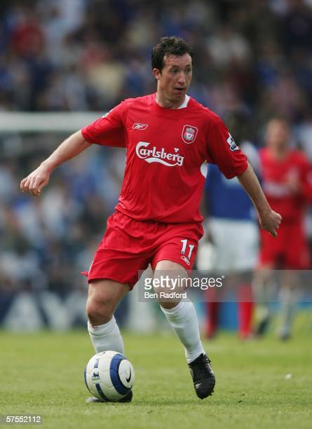 Robbie Fowler of Liverpool in action during the Barclays Premiership match between Portsmouth and Liverpool at Fratton Park on May 7, 2006 in...