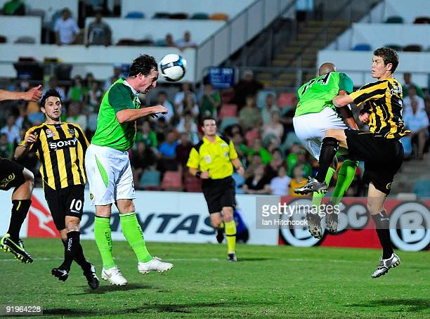 Robbie Fowler of the Fury scores the equalising goal during the round 11 Aleague match between the North Queensland Fury and the Wellington Phoenix...