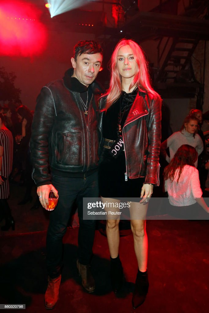 Robbie Furze and Mary Charteris attend the Moncler X Stylebop.com launch event at the Musikbrauerei on October 11, 2017 in Berlin, Germany.