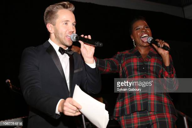Robbie Gordy and Leslie Jones speak at American Museum Of Natural History's 2018 Museum Gala at American Museum of Natural History on November 15...