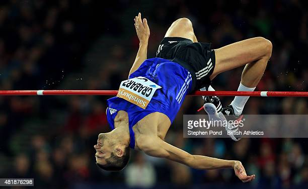 Robbie Grabarz of Great Britain competes in the mens high jump during day one of the Sainsbury's Anniversary Games IAAF Diamond League event at The...