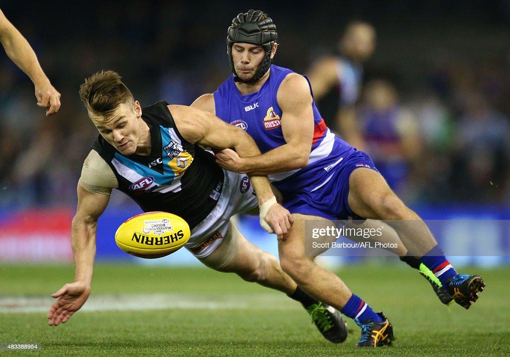 AFL Rd 19 -  Western Bulldogs v Port Adelaide : News Photo