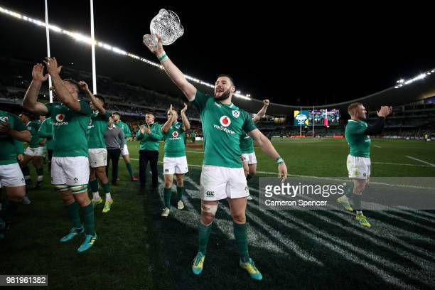 A general view is seen as the welcome to country is given before the Third International Test match between the Australian Wallabies and Ireland at...