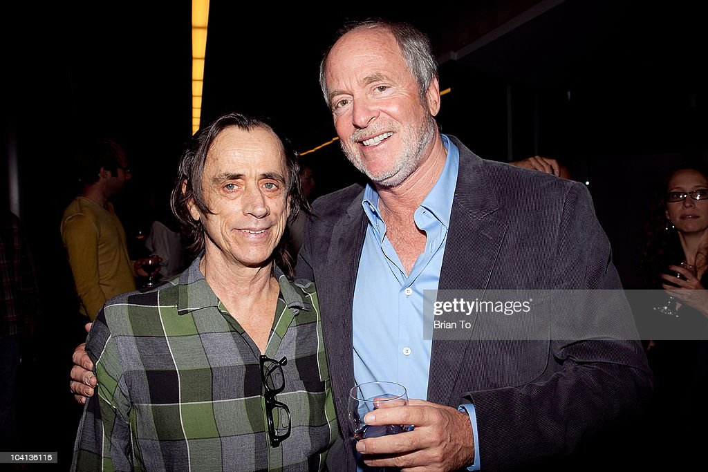 Robbie Hochdeiffer (L) and Greg Gorman pose at the opening night reception of 'Greg Gorman: A Distinctive Vision 1970-2010' at Pacific Design Center on September 15, 2010 in West Hollywood, California.
