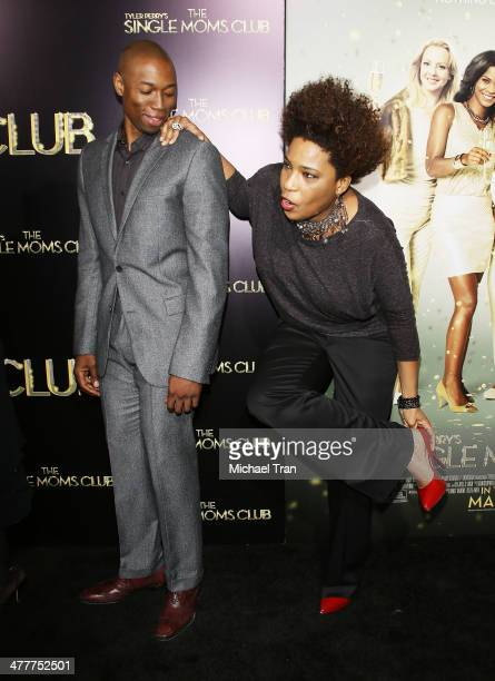 Robbie Jones and Macy Gray arrive at the Los Angeles premiere of Tyler Perry's The Single Moms Club held at ArcLight Cinemas Cinerama Dome on March...
