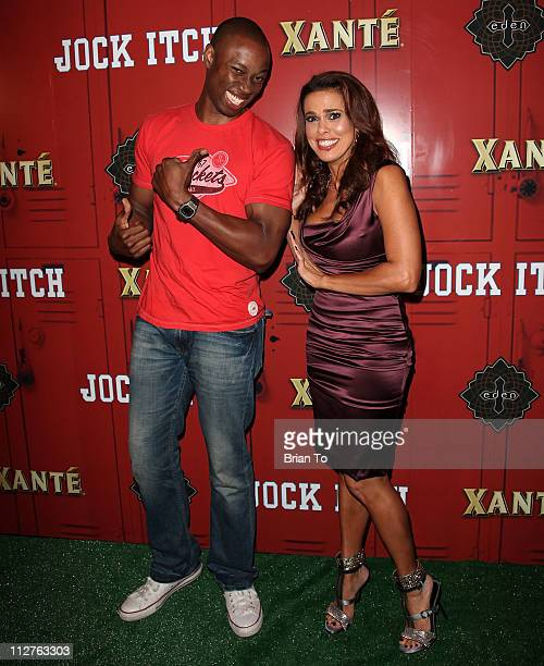 Robbie Jones and Rosa Blasi attend her Jock Itch book release party at Eden on April 20 2011 in Hollywood California