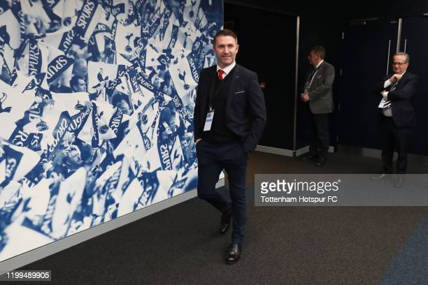 Robbie Keane, Assistant Manager of Middleborough arrives at the stadium ahead of the FA Cup Third Round Replay match between Tottenham Hotspur and...