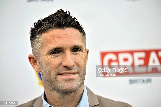Robbie Keane attends the Tottenham Hotspur and LA Galaxy reception held at the British Consul Generals residence on July 22 2012 in Los Angeles...