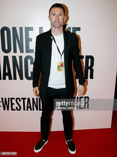 Robbie Keane during the One Love Manchester concert at Old Trafford Cricket Ground Cricket Club on June 4 2017 in Manchester England