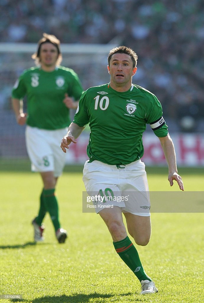Robbie Keane of Ireland during the Euro2008 Group D Qualifier between the Republic of Ireland and Wales at the Croke Park Stadium on March 24, 2007 in Dublin, Ireland.