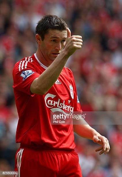 Robbie Keane of Liverpool during the Barclays Premier League match between Liverpool and Middlesbrough at Anfield on August 23, 2008 in Liverpool,...