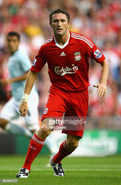 Robbie Keane of Liverpool during the pre season friendly match between Liverpool and Lazio at Anfield on August 8 2008 in Liverpool England