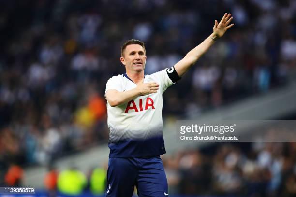 Robbie Keane of Spurs Legends celebrates scoring a goal during the Legends Match between Spurs Legends and Inter Forever at Tottenham Hotspur Stadium...