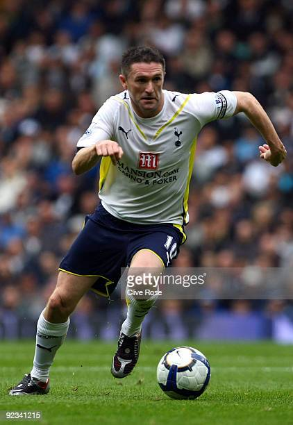 Robbie Keane of Tottenham Hotspur in action during the Barclays Premier League match between Tottenham Hotspur and Stoke City at White Hart Lane on...