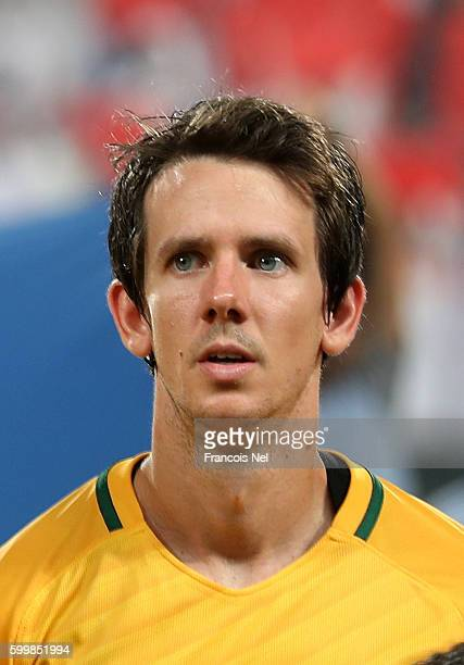 Robbie Kruse of Australia ahead of the 2018 FIFA World Cup Qualifier match between UAE and Australia at Mohamed Bin Zayed Stadium on September 6 2016...