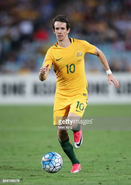 Robbie Kruse of Australia controls the ball during the 2018 FIFA World Cup Asian Playoff match between the Australian Socceroos and Syria at ANZ...