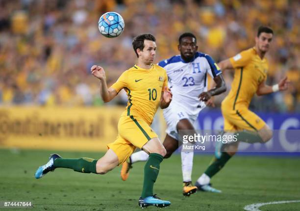 Robbie Kruse of Australia follows the ball during the 2018 FIFA World Cup Qualifiers Leg 2 match between the Australian Socceroos and Honduras at ANZ...