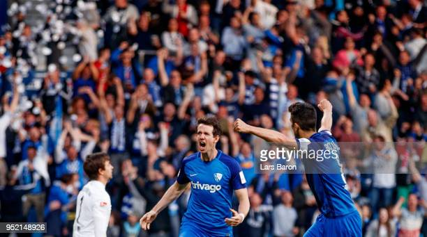 Robbie Kruse of Bochum celebrates after scoring his teams second goal during the Second Bundesliga match between VfL Bochum 1848 and FC Erzgebirge...