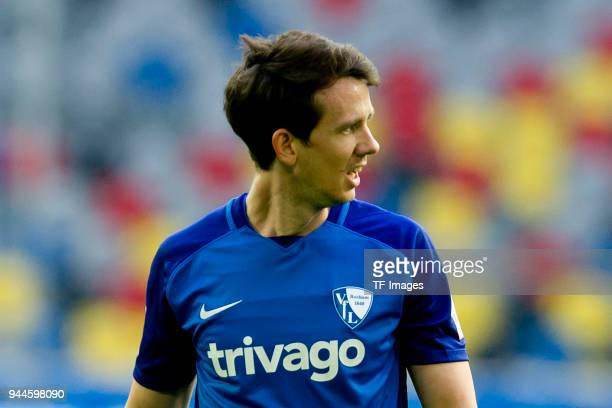 Robbie Kruse of Bochum looks on during the Second Bundesliga match between Fortuna Duesseldorf and VfL Bochum 1848 at EspritArena on April 6 2018 in...