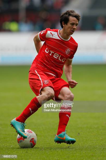 Robbie Kruse of Fortuna Duesseldorf in action during the Bundesliga match between Fortuna Duesseldorf 1895 and 1 FC Nuernberg at EspritArena on May...
