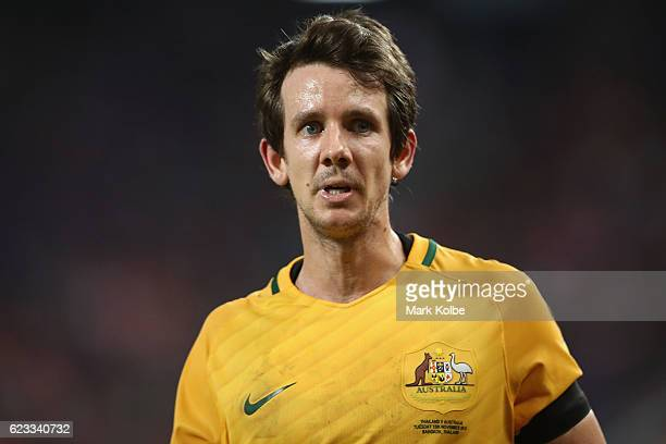 Robbie Kruse of the Socceroos looks on during the 2018 FIFA World Cup Qualifier match between Thailand and the Australia Socceroos at Rajamangala...
