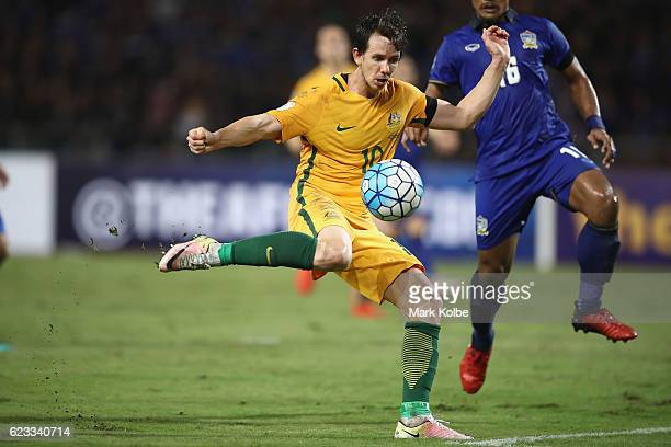 Robbie Kruse of the Socceroos sets to shoot at goal during the 2018 FIFA World Cup Qualifier match between Thailand and the Australia Socceroos at...