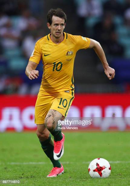 Robbie Kruse of ustralia in action during the FIFA Confederations Cup Russia 2017 Group B match between Australia and Germany at Fisht Olympic...