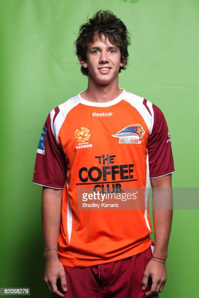 Robbie Kruse poses during the official Queensland Roar 2008/2009 Hyundai ALeague portrait session at Suncorp Stadium on July 23 2008 in Melbourne...
