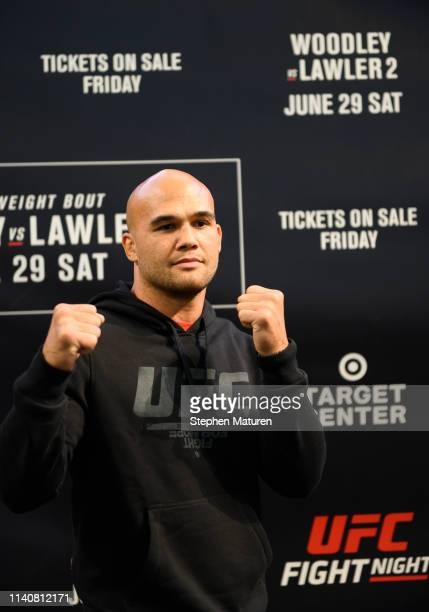 Robbie Lawler poses for a photo during the UFC Fight Night Open Workouts event at the Mall of America on May 2 2019 in Minneapolis Minnesota