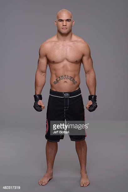 Robbie Lawler poses for a portrait during a UFC photo session on March 12 2014 in Dallas Texas