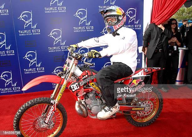 Robbie Maddison during 2007 Taurus World Stunt Awards Arrivals at Paramount Studios in Los Angeles California United States