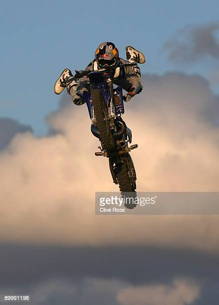 Robbie Maddison of Australia in action during the Red Bull X Fighters at Battersea Power station on August 21 2009 in London England