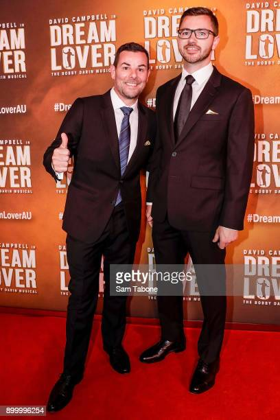 Robbie Mascara and Friend attends opening night of Dream Lover The Bobby Darin Musical at Melbourne Arts Centre on December 31 2017 in Melbourne...