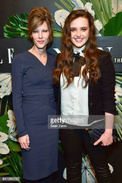 Robbie Myers and Katherine Langford attend ELLE E And IMG Host New York Fashion Week February 2017 KickOff Event at 40 Bethune Street on February 8...