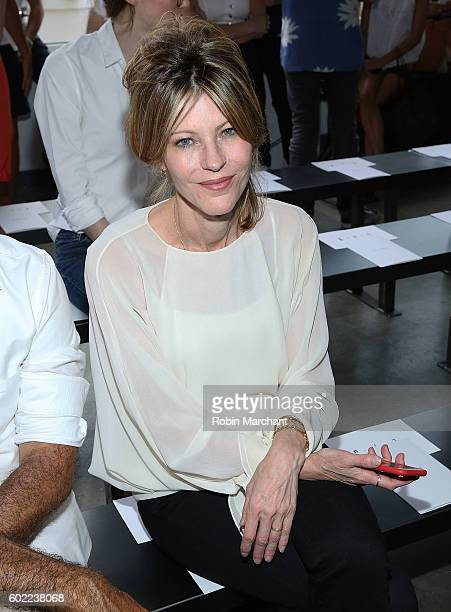 Robbie Myers attends Dion Lee Front Row September 2016 during New York Fashion Week at Pier 59 Studios on September 10 2016 in New York City