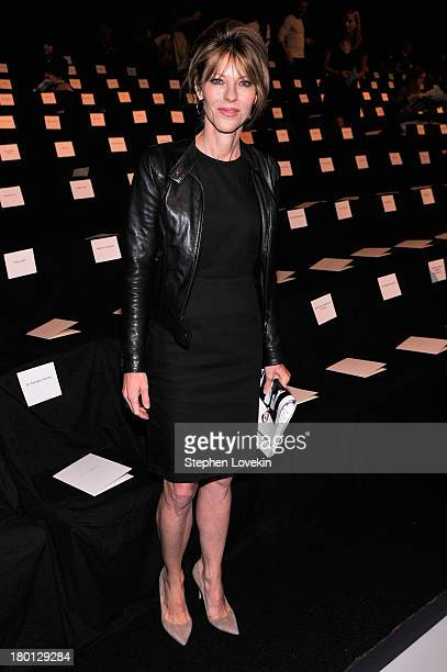 Robbie Myers attends the Carolina Herrera fashion show during MercedesBenz Fashion Week Spring 2014 at The Theatre at Lincoln Center on September 9...