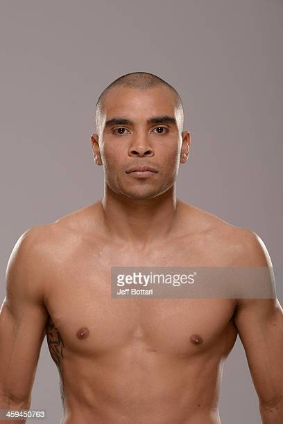 Robbie Peralta poses for a portrait during a UFC photo session on December 26 2013 in Las Vegas Nevada