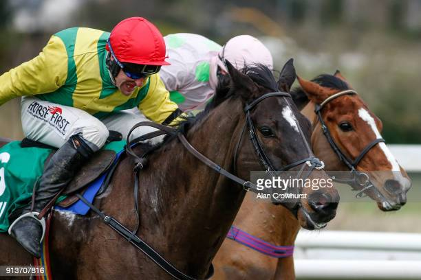 Robbie Power riding Supasundae clear the last to win The BHP Insurance Irish Champion Hurdle from Faugheen at Leopardstown racecourse on February 3...