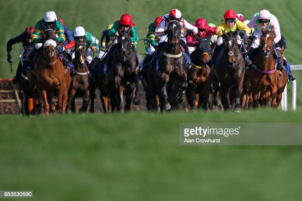Robbie Power riding Supasundae clear the second last before winning The Coral Cup Handicap Hurdle Race at Cheltenham racecourse on day two of the...