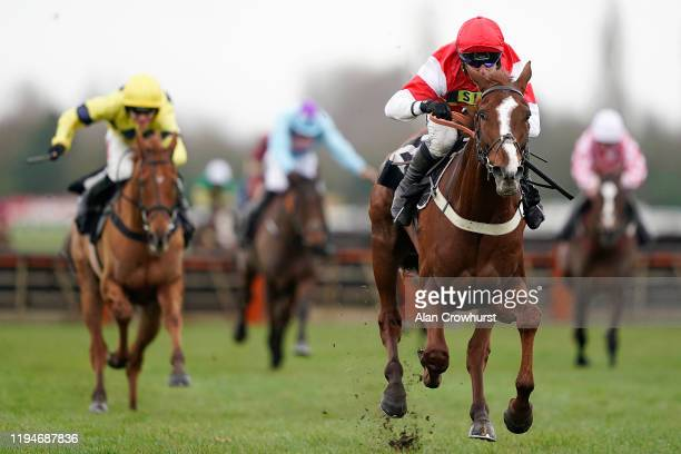 Robbie Power riding The Big Breakaway clear the last to win The Conundrum EBF Stallions 'National Hunt' Novices' Hurdle at Newbury Racecourse on...