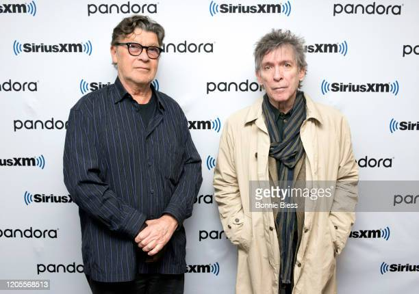 Robbie Robertson and Kurt Loder visit SiriusXM Studios on February 11 2020 in New York City